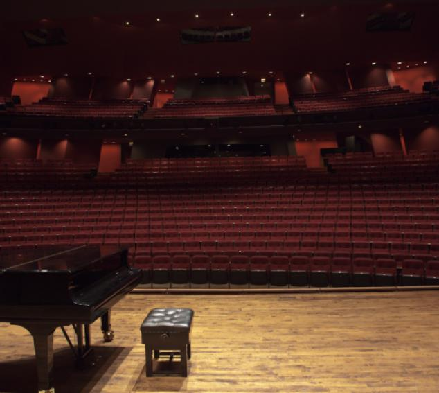 View of Meany Hall seating from stage