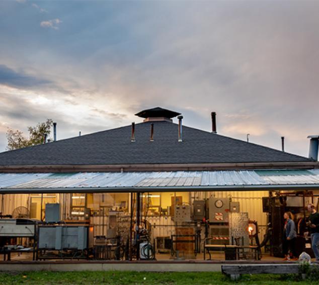 Exterior view of Ceramic and Metal Arts Building (CMA)