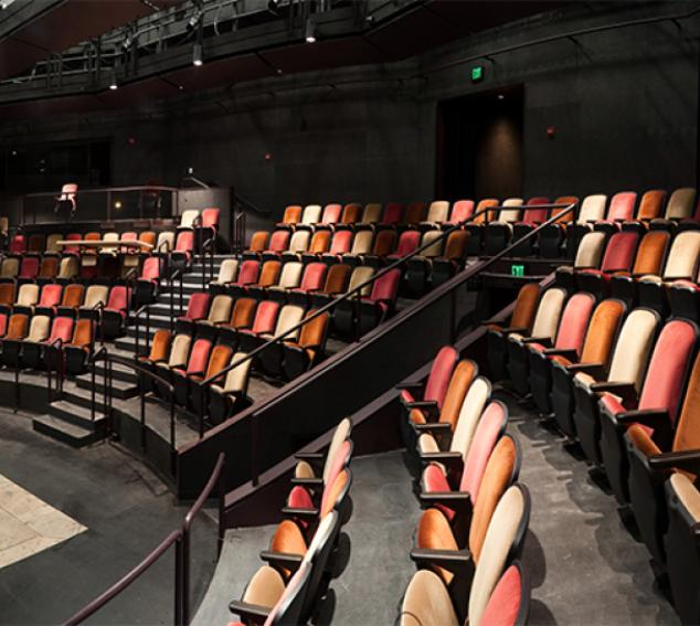 View of seating at the Floyd and Delores Jones Playhouse