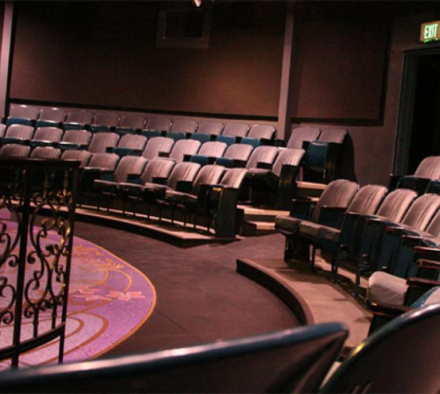 View of seating inside Hughes Penthouse Theater